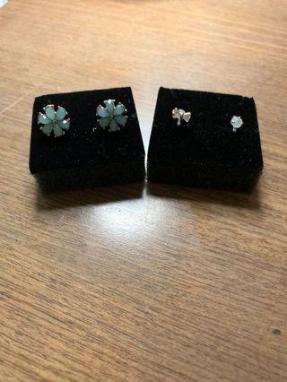 韓國夾耳環兩對
