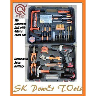 Q3 CORDLESS DRILL WITH ACCESSORIES SET INTRODUCED BY QUASA (Q3D-1225K)