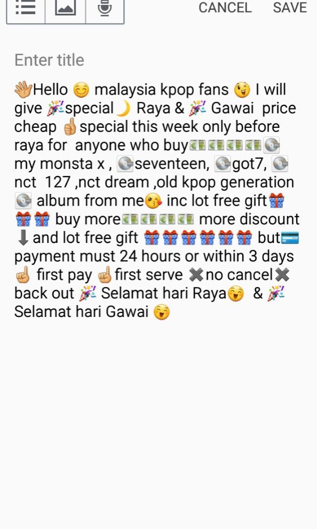 🎉 Raya & Gawai Special promotions sale cheap wts kpop album