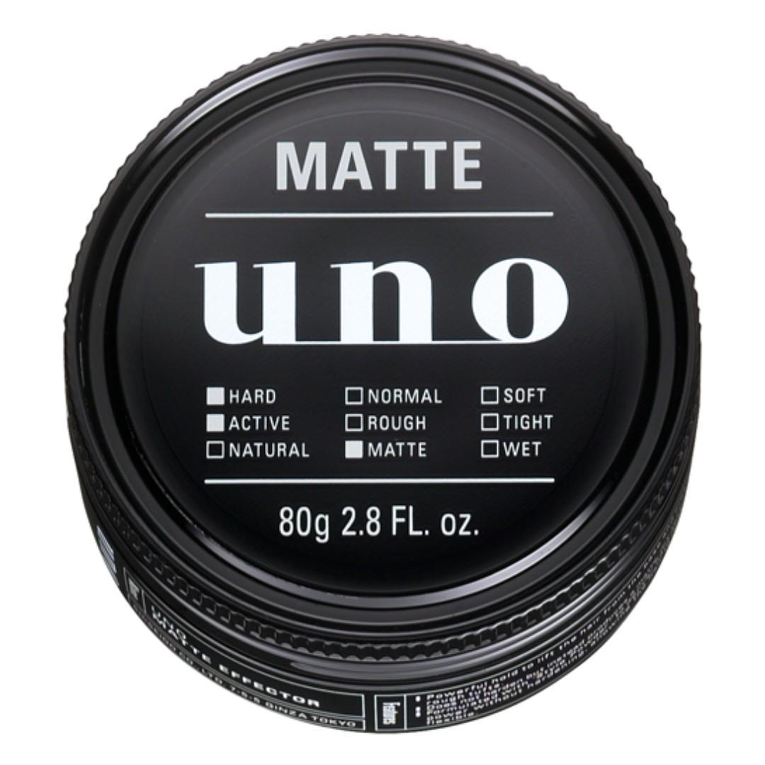 日本 Shiseido 資生堂 UNO 強力持久霧面質感頭髮造型髮蠟 Matte Effector Creator Hair Wax 80g 包郵