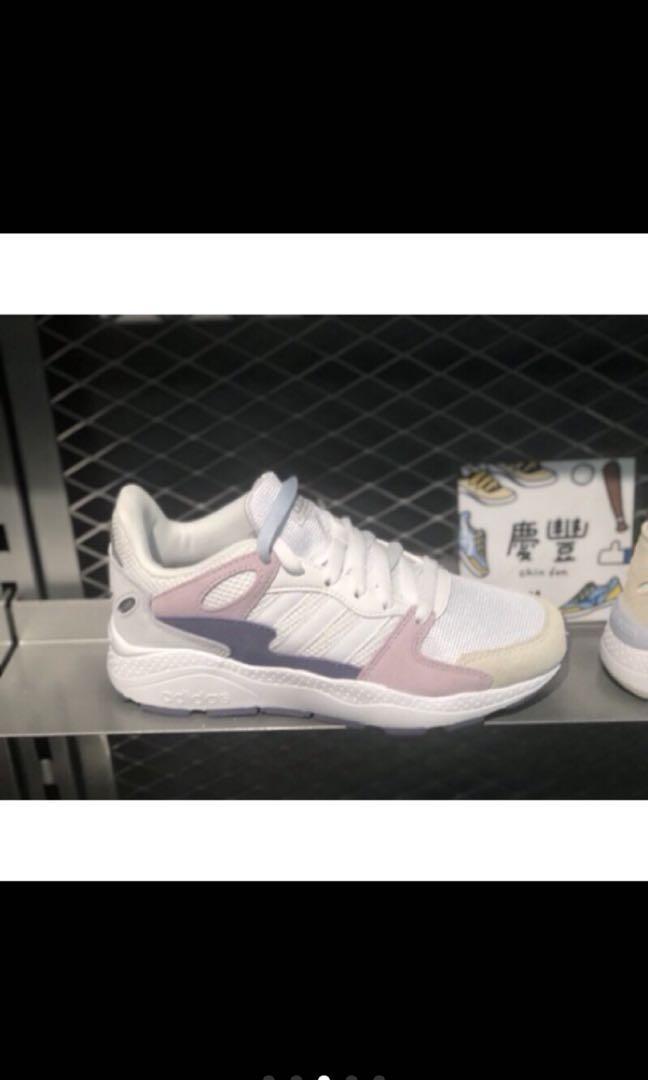 Adidas Neo CRAZYCHAOS 女 老爹鞋 復古慢跑鞋 白粉 黑白 米白