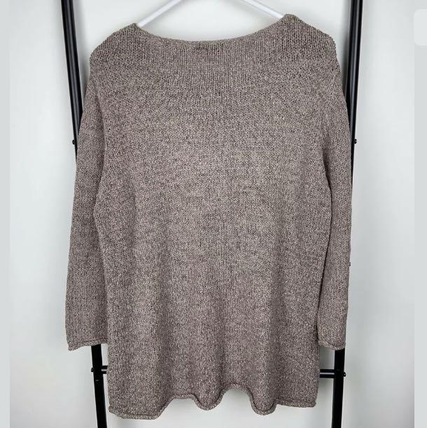 Anthea Crawford Lifestyle L brown knit jumper sweater top shirt winter designer