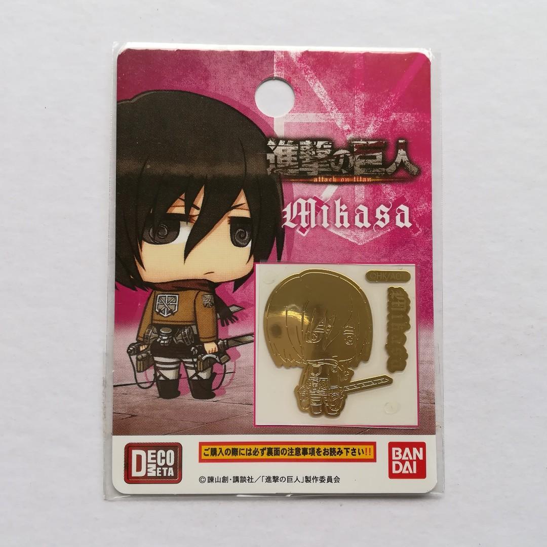 Attack on Titan - Mikasa Ackerman (Chimi, SD ver.) - DecoMeta / Decoration Metal Sheet / Seal / Sticker