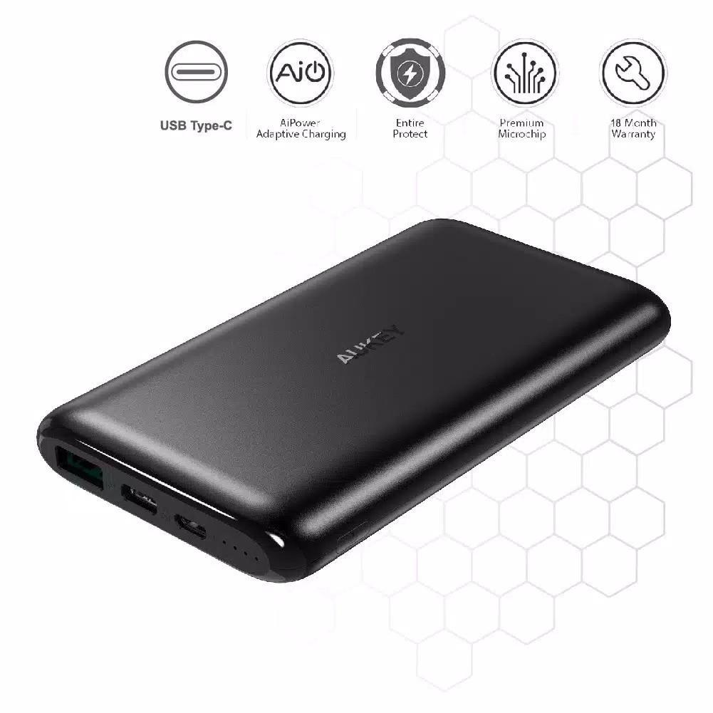 Aukey Powerbank PB-XN10 10000 mAh USB C AiQ - 500330