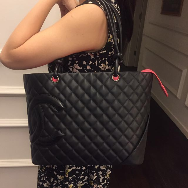 4870c99cd0af Authentic CHANEL Cambon Tote - All Black, Women's Fashion, Bags ...