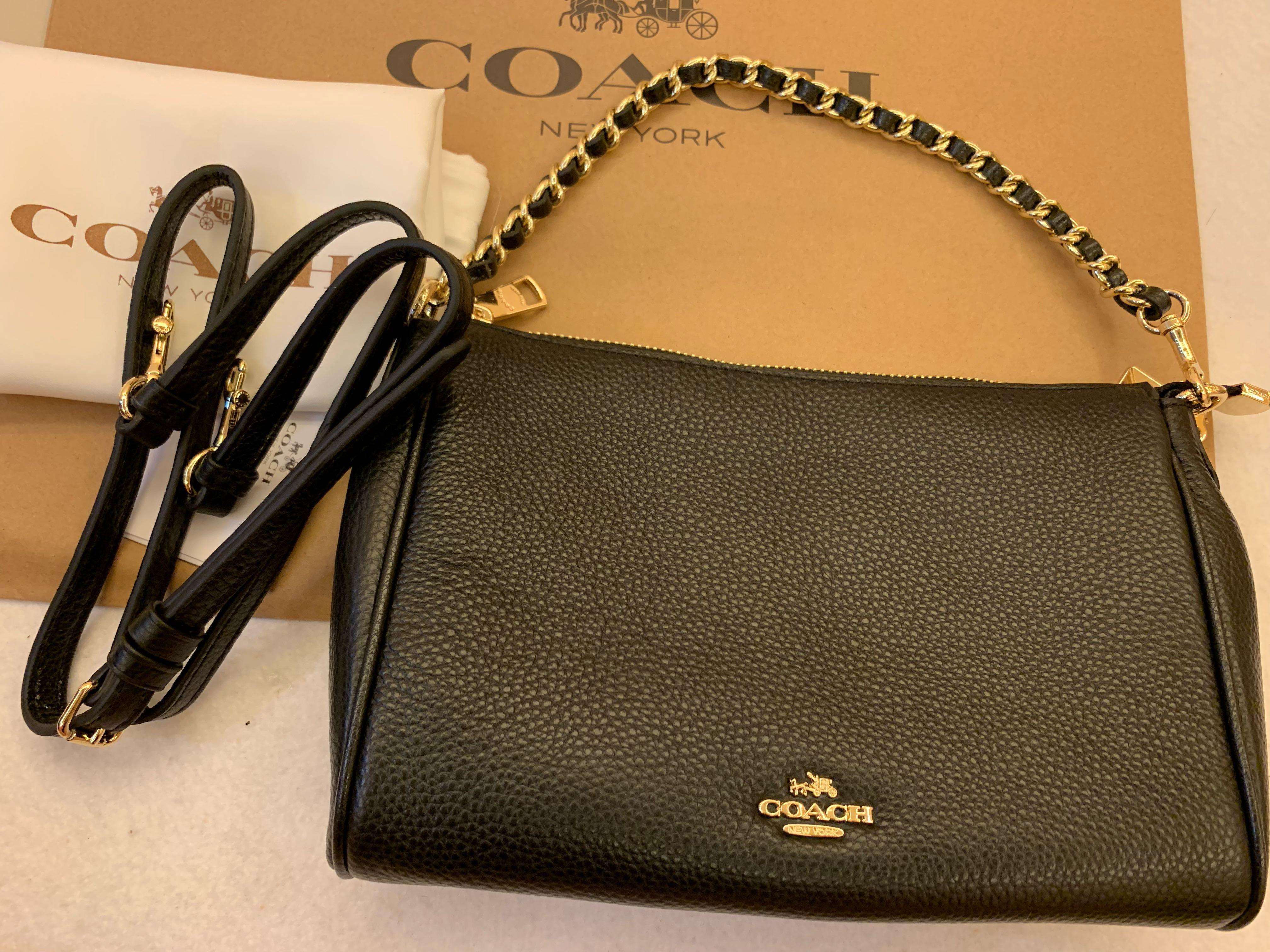 Authentic Coach ready Stock 22212 Women Crossbody chain bag shoulder bag sling bag
