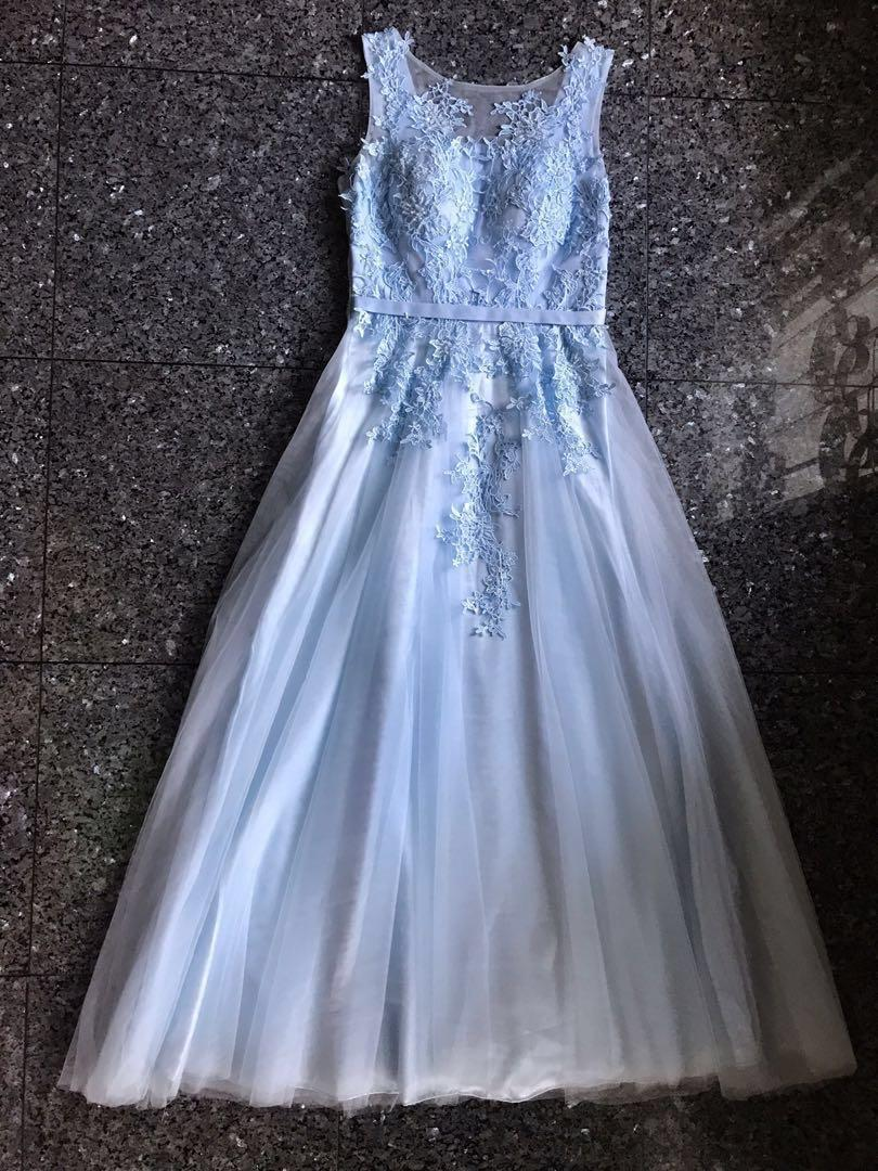 #BAPAU Dusty blue long gown