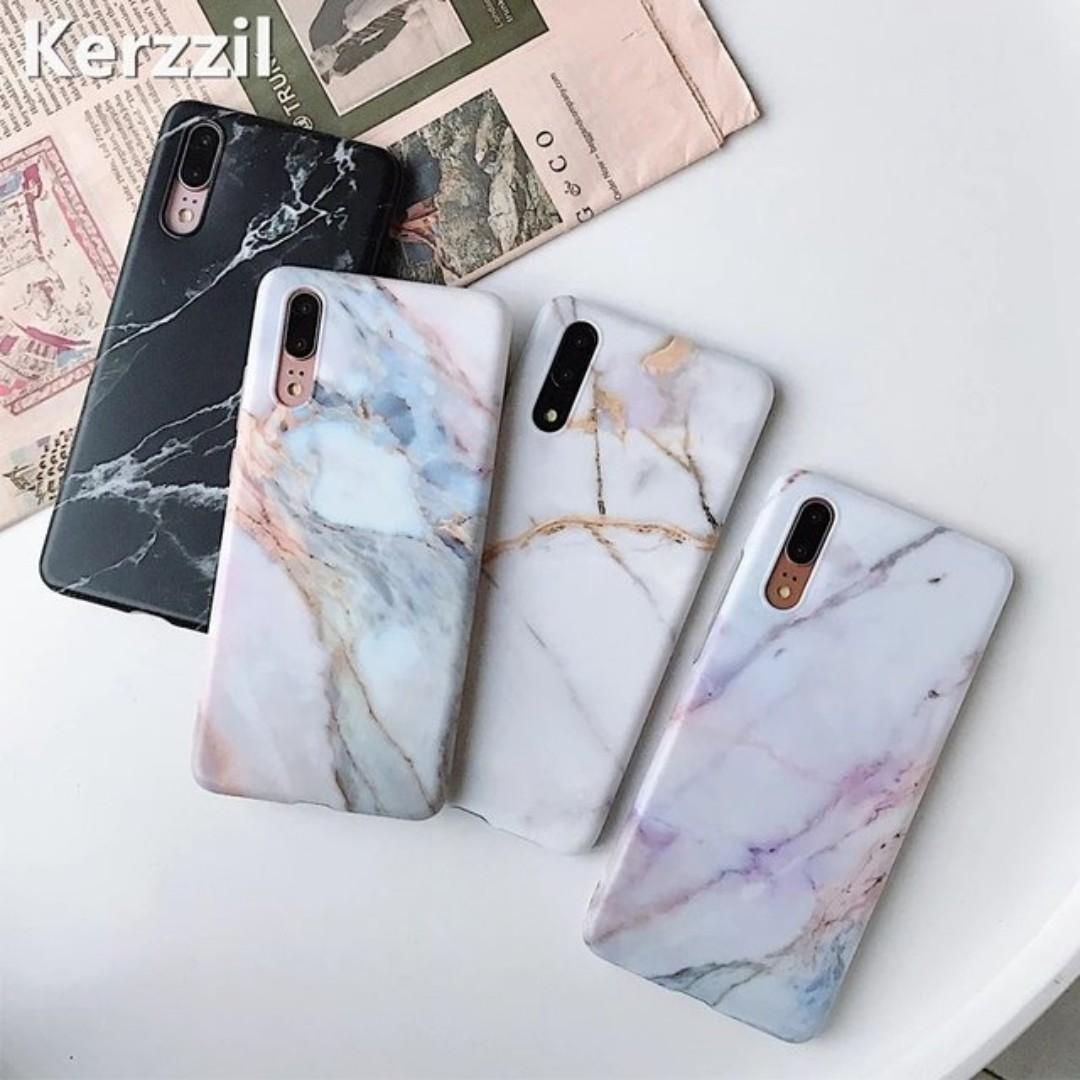 Black and White Marble Huawei P20 Pro Soft Phone Case