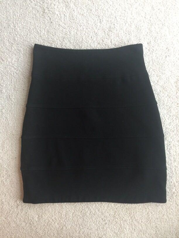 Black high-waisted skirt by Talula (size 2)
