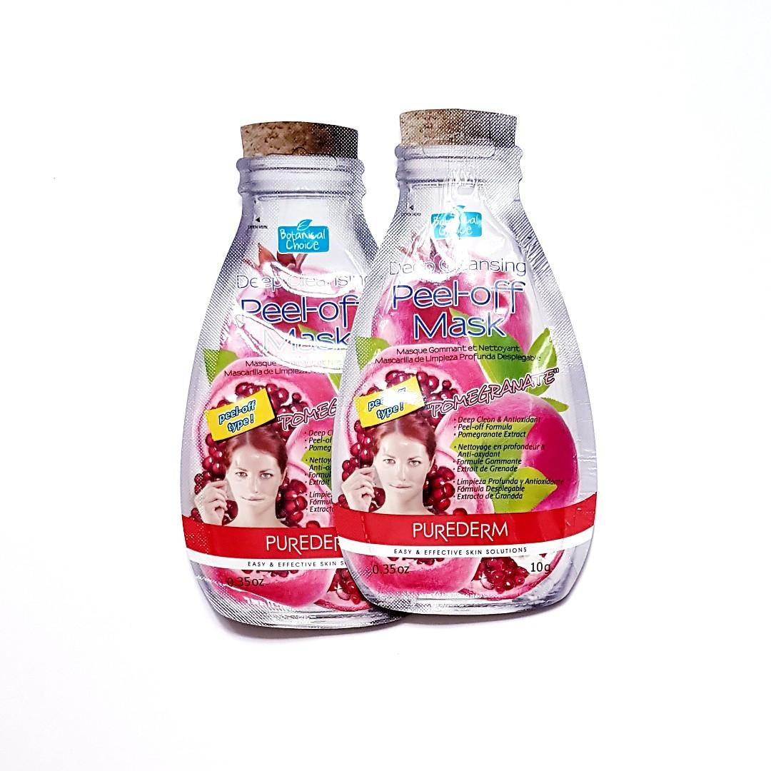 Botanical Choice Deep Cleansing Easy & Effective Pomegranate Face Peel Off Facial Mask