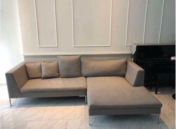 Contemporary sofa for sale / 4-5 seater / grey / Lush Lush ...