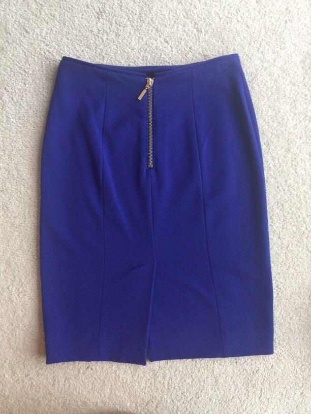 Electric blue skirt (size 2)