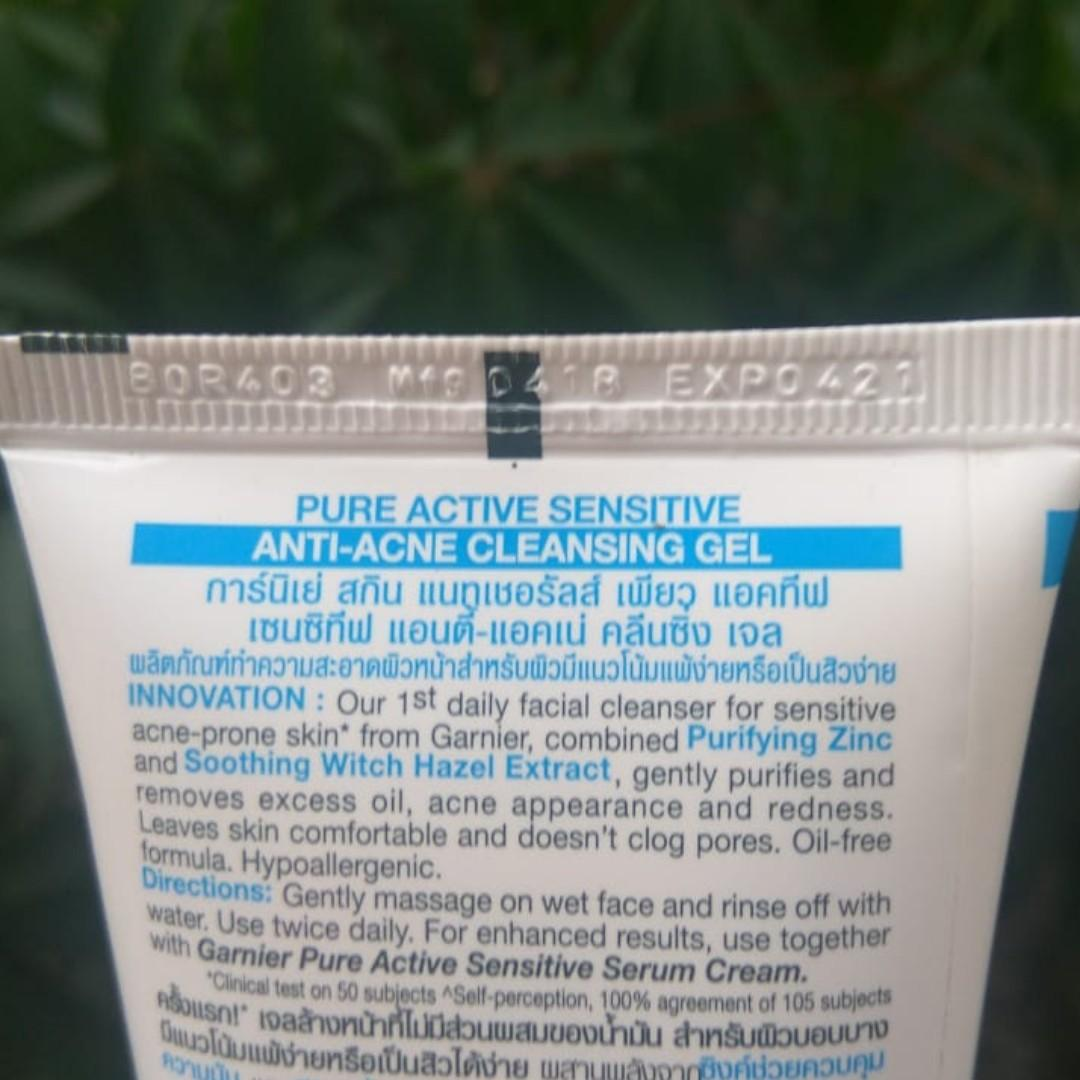 Garnier Pure Active Sensitive Anti-Acne Cleansing Gel