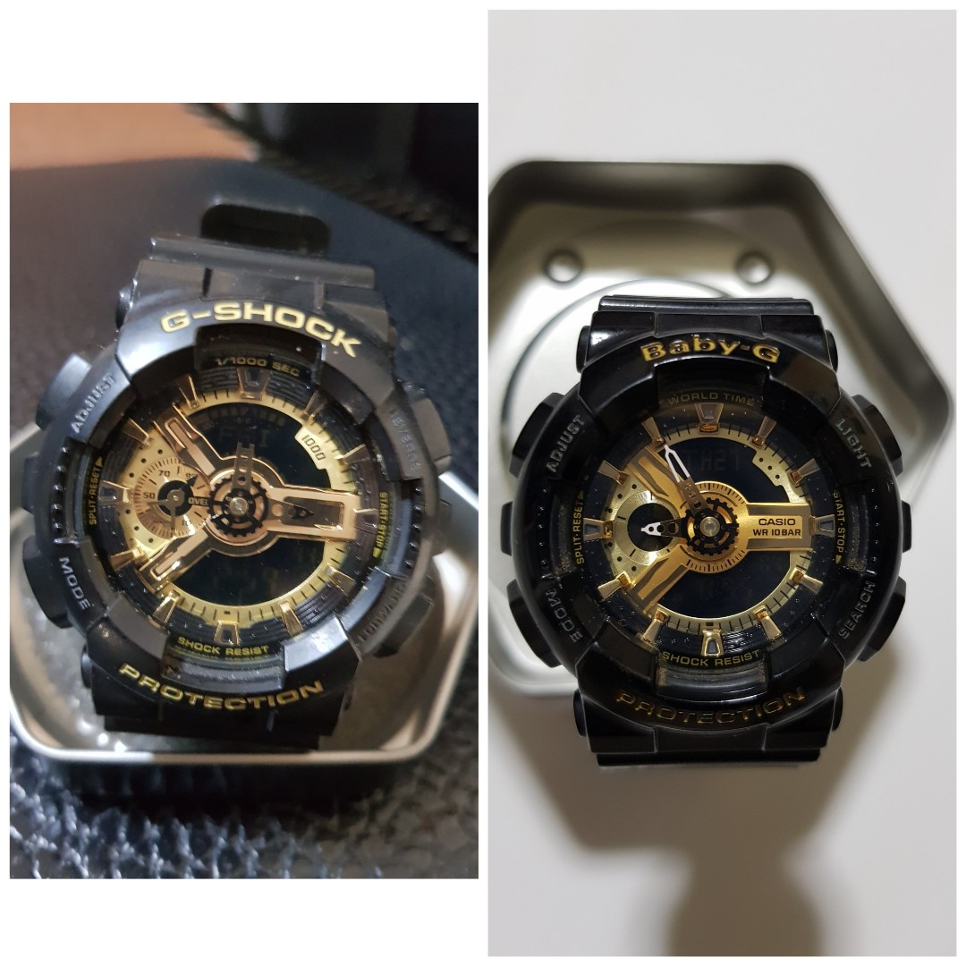2cb4b5e695f2 Casio Couple Watch (G Shock & Baby G), Luxury, Watches on Carousell