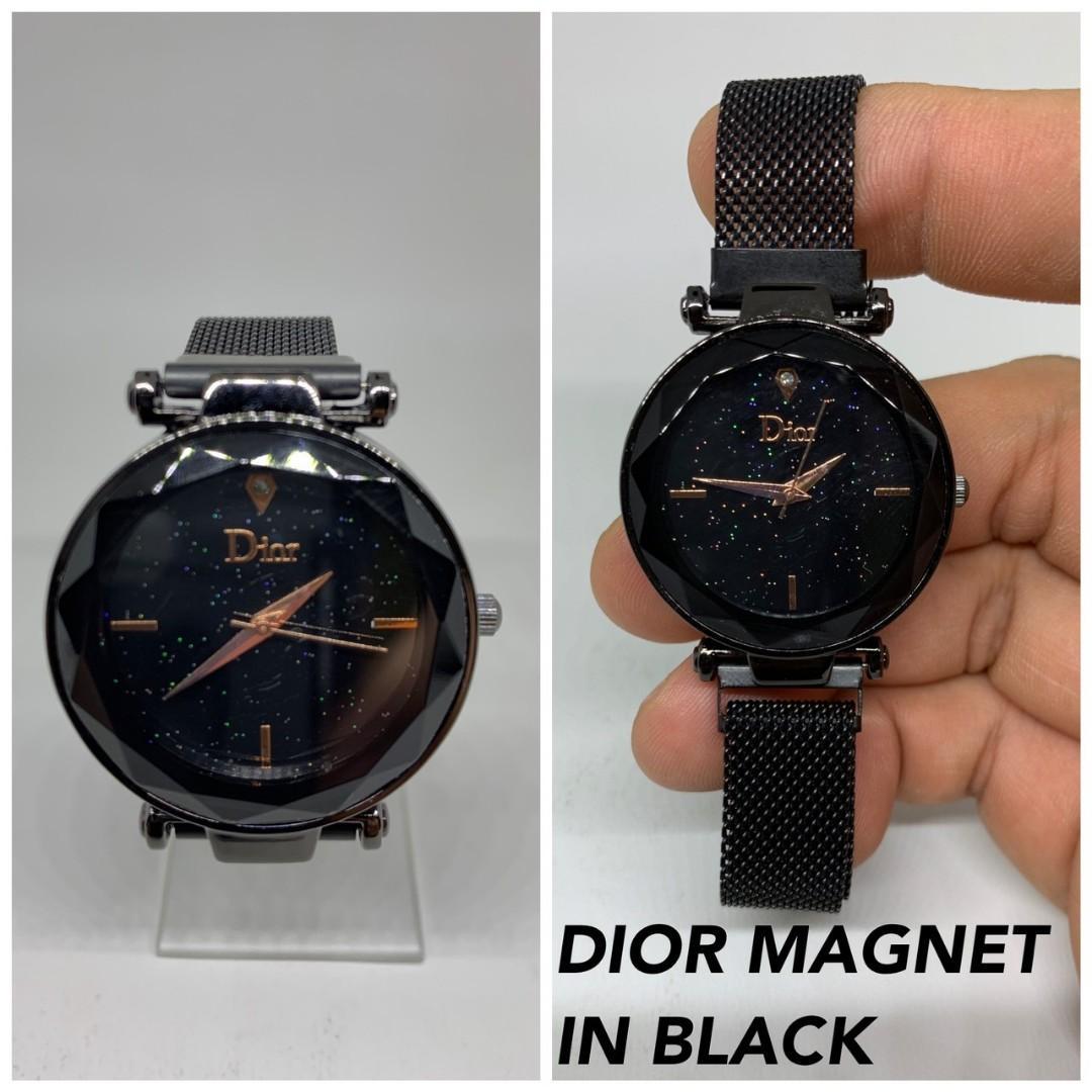 Jam tangan DIOR MAGNET  Dior magnet dari bahan rantai pasir kaca tebal belimbing lux diameter 4cm