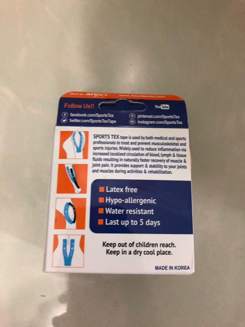 Kinesiology Therapeutic Sports Tape Sportstex Blue