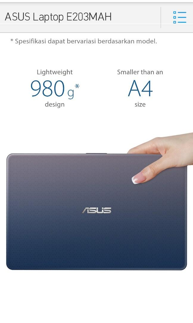 Laptop Asus E 203 MAH ( NEGO )