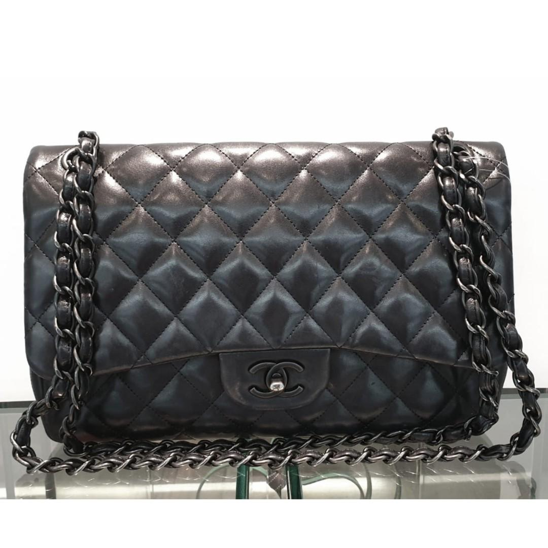 #mauthr Chanel Jumbo Black Lamb So Black #15 ,comes with card, holo, dustbag