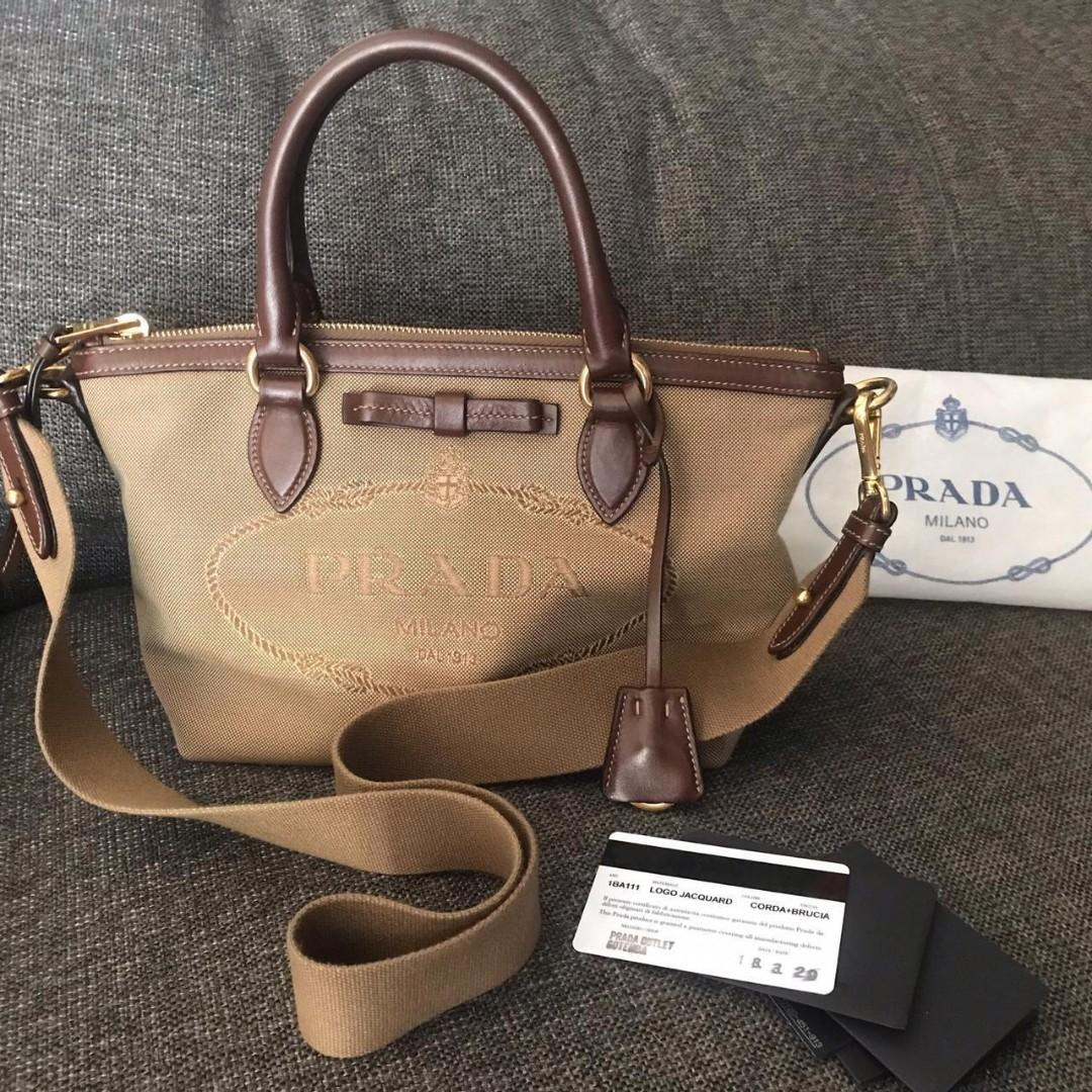#mauthr FAST SALE Like new Prada tote canvas size small complete stamp card gotemba 2018 & db