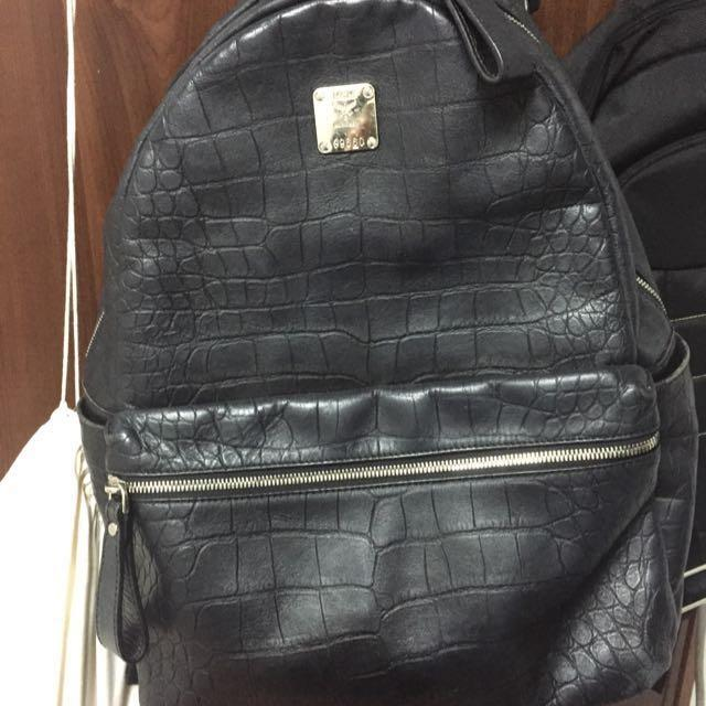 Mcm Leather Backpack Authentic