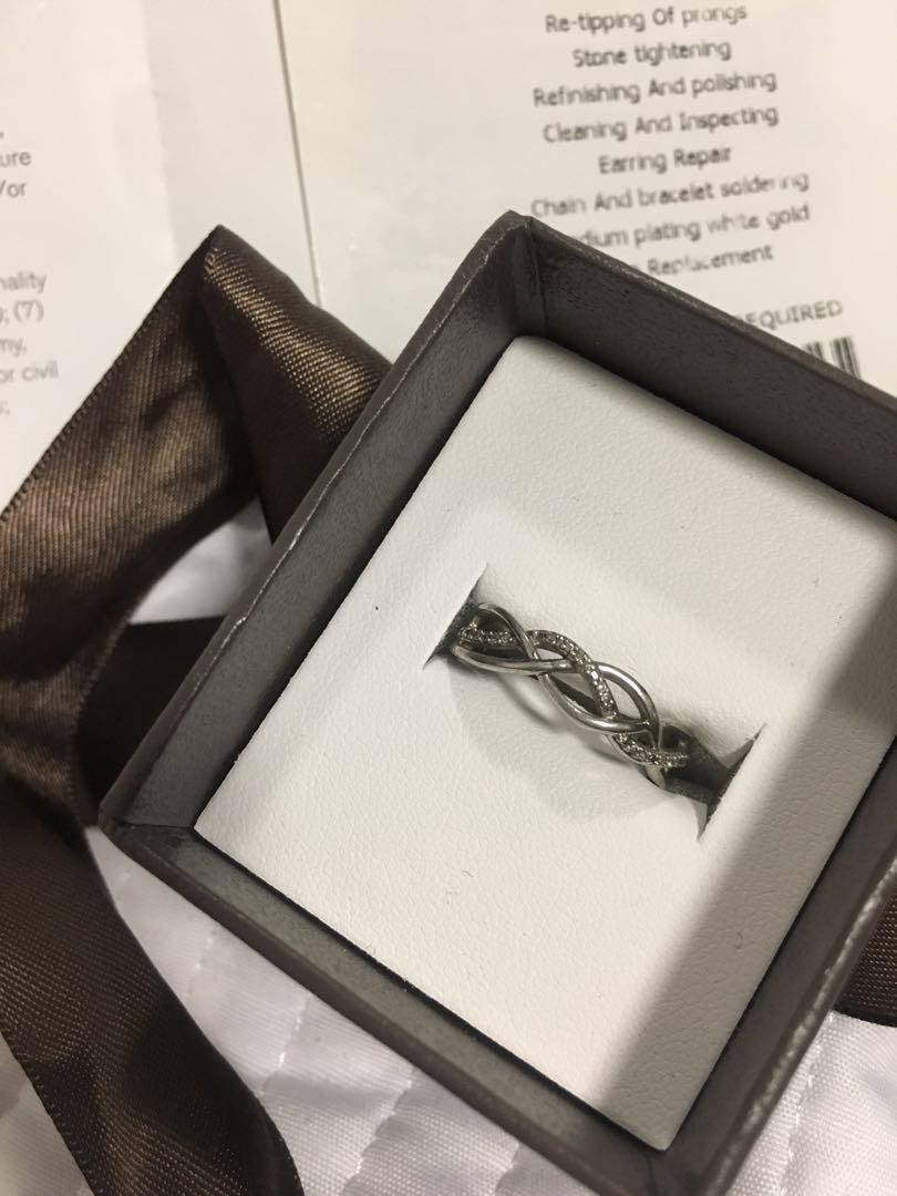 Michael Hill Silver Diamond Ring- Two years of warranty left!!
