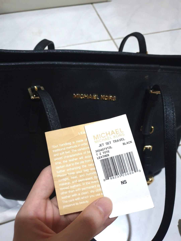 Michael Kors Jet Set Travel Bag Black | REAL PICTURE