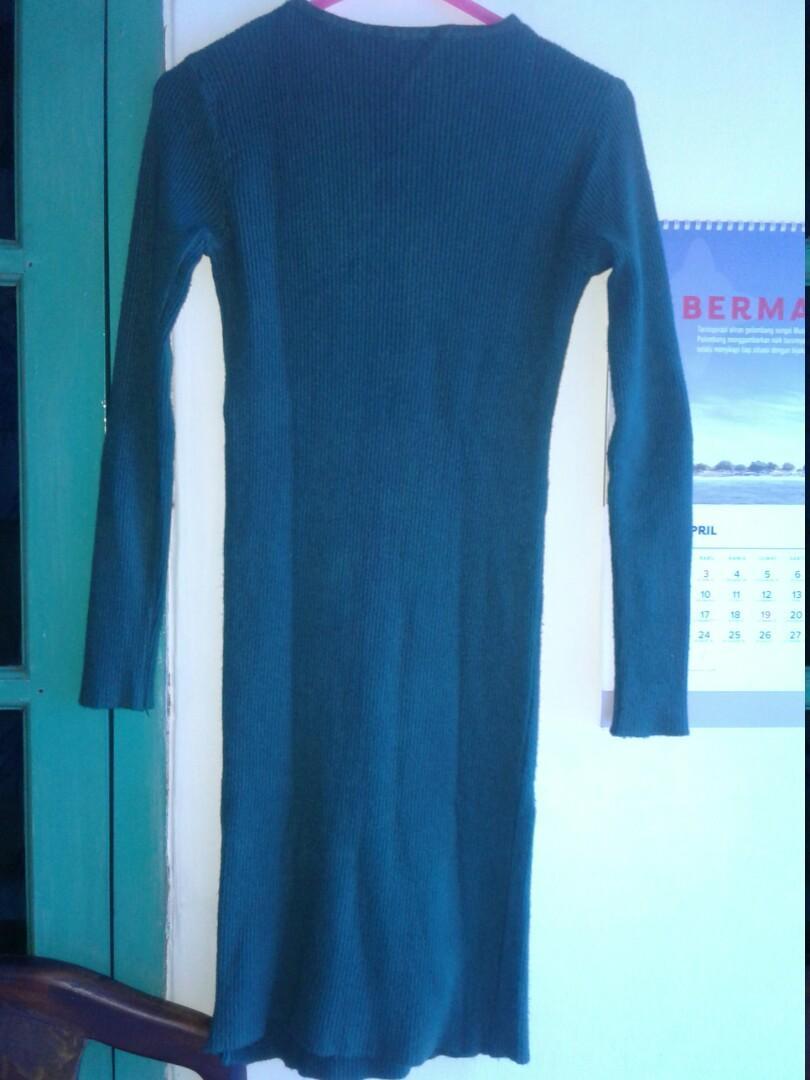 Mini dress rajut