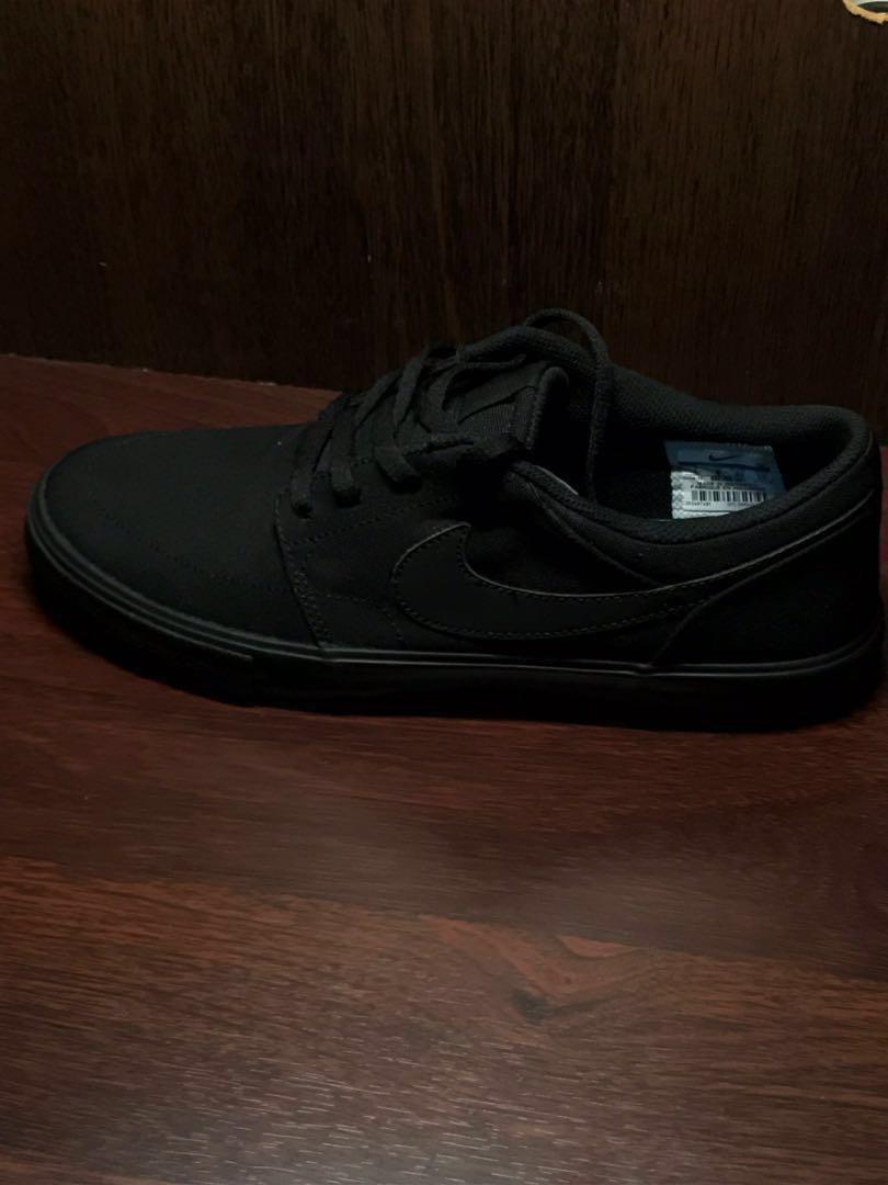 71bd1c823 Nike SB Portmore II Black Canvas Skate Shoes (880268-001) MEN, Men's ...