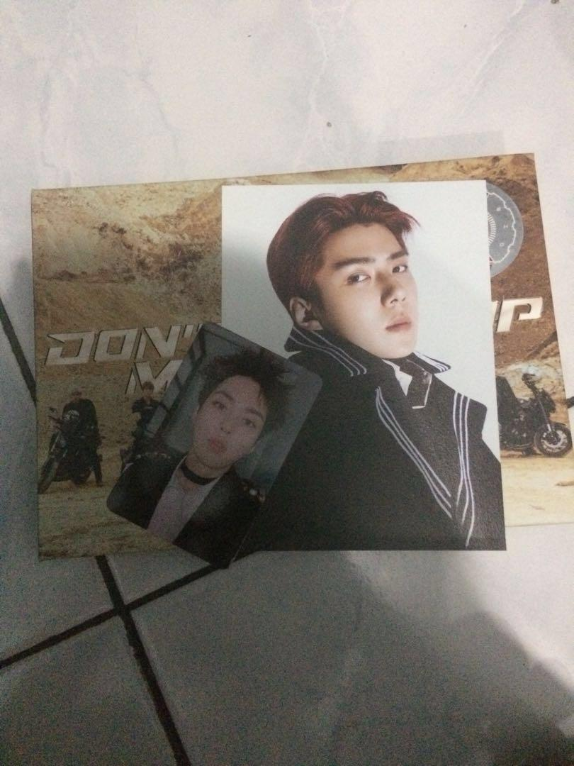 "Postcard Sehun + Photocard Xiumin "" Don't Mess Up My Tempo "" #mauthr"
