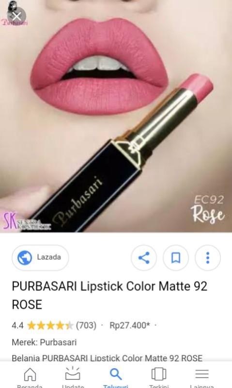 Purbasari Lipstick Color Matte no 92