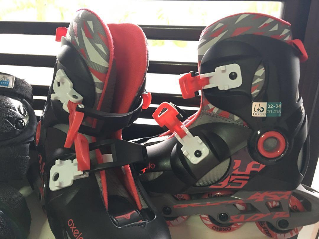 Roller Blades with Helmet and Protective Gears for Kids