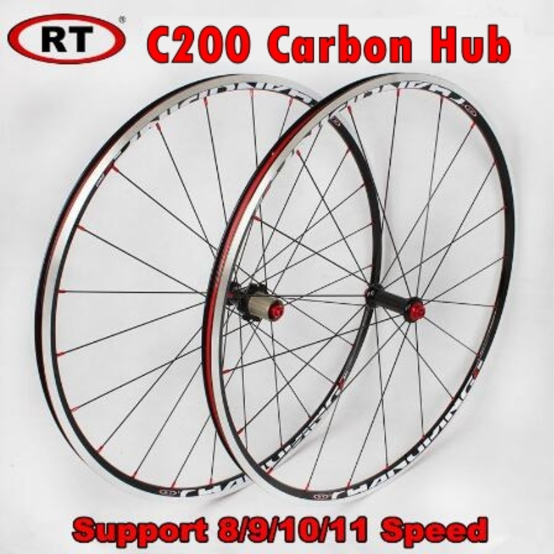 e50ce2afbad RT C200 700C Road Bike Ultra-light Carbon Hub Wheelset (Front & Rear ...