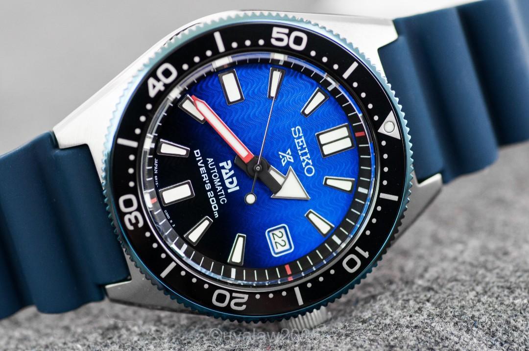 [BNIB] Seiko Prospex Automatic PADI Dive Watch with Blue Dial and Strap SPB071 SPB071J SPB071J1 SBDC055