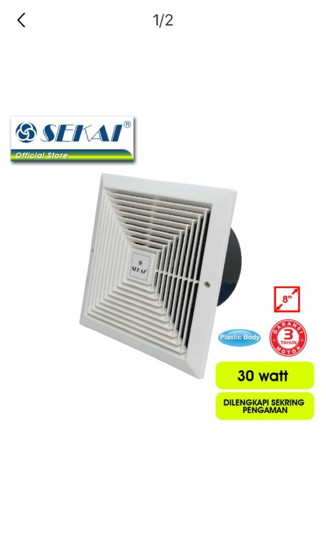"""SEKAI Exhaust Fan [8""""]-Putih"""