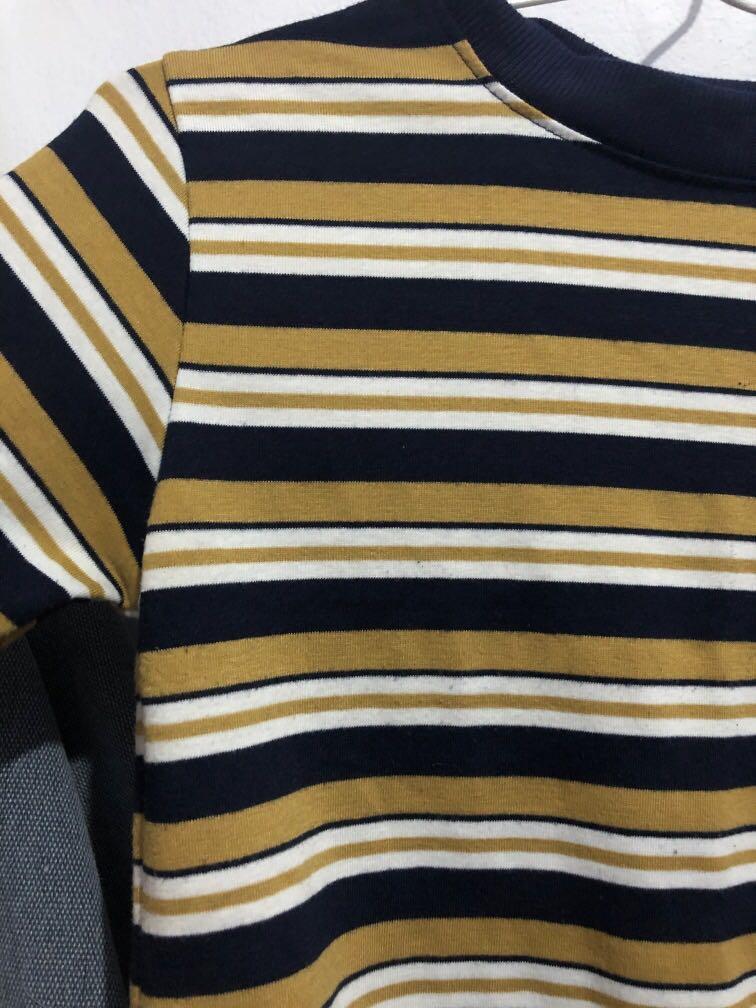 Stripe crop top - brown