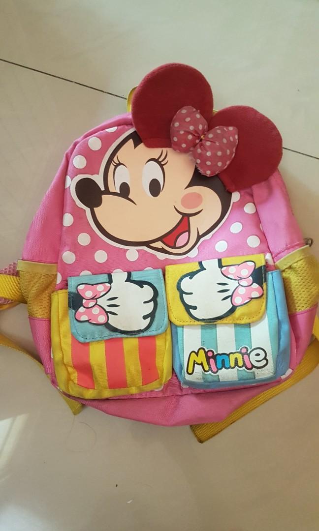 Tas anak TK minnie mouse