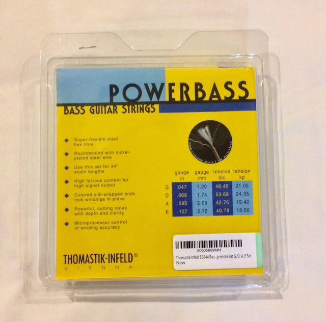 Thomastik-Infeld EB344 Powerbass Bass Guitar 4 Strings