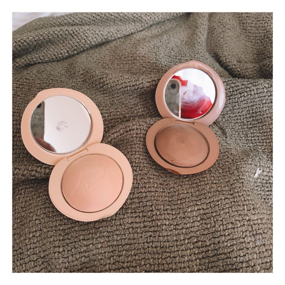 too faced peaches and cream highlighter and bronzer