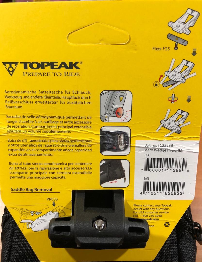 Topeak Aero Wedge Quickclip Saddle Bolso Reduced B3c7f 11121
