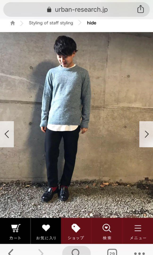 URBAN RESEARCH cropped pants in dark green