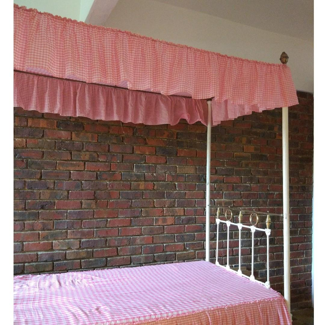 Vintage Victorian Brass And Iron Four Poster Bed Furniture Beds Mattresses On Carousell