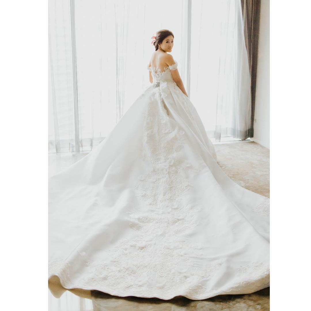 wedding gown (marian rivera inspired gown) on carousell