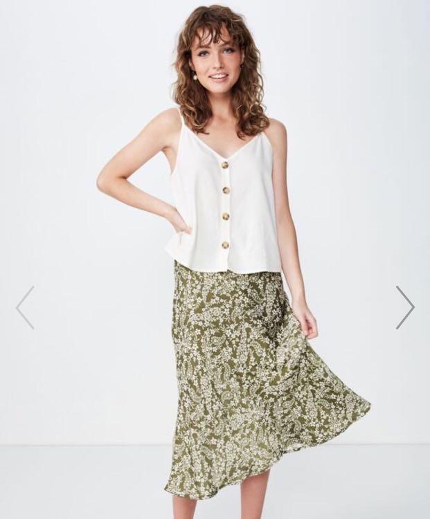 woven belle bias midi skirt Woven Belle Bias MIDI Skirt, Women's Fashion, Clothes, Dresses & Skirts on  Carousell