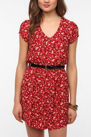XS Urban Outfitters red floral dress size by Kimchi Blue