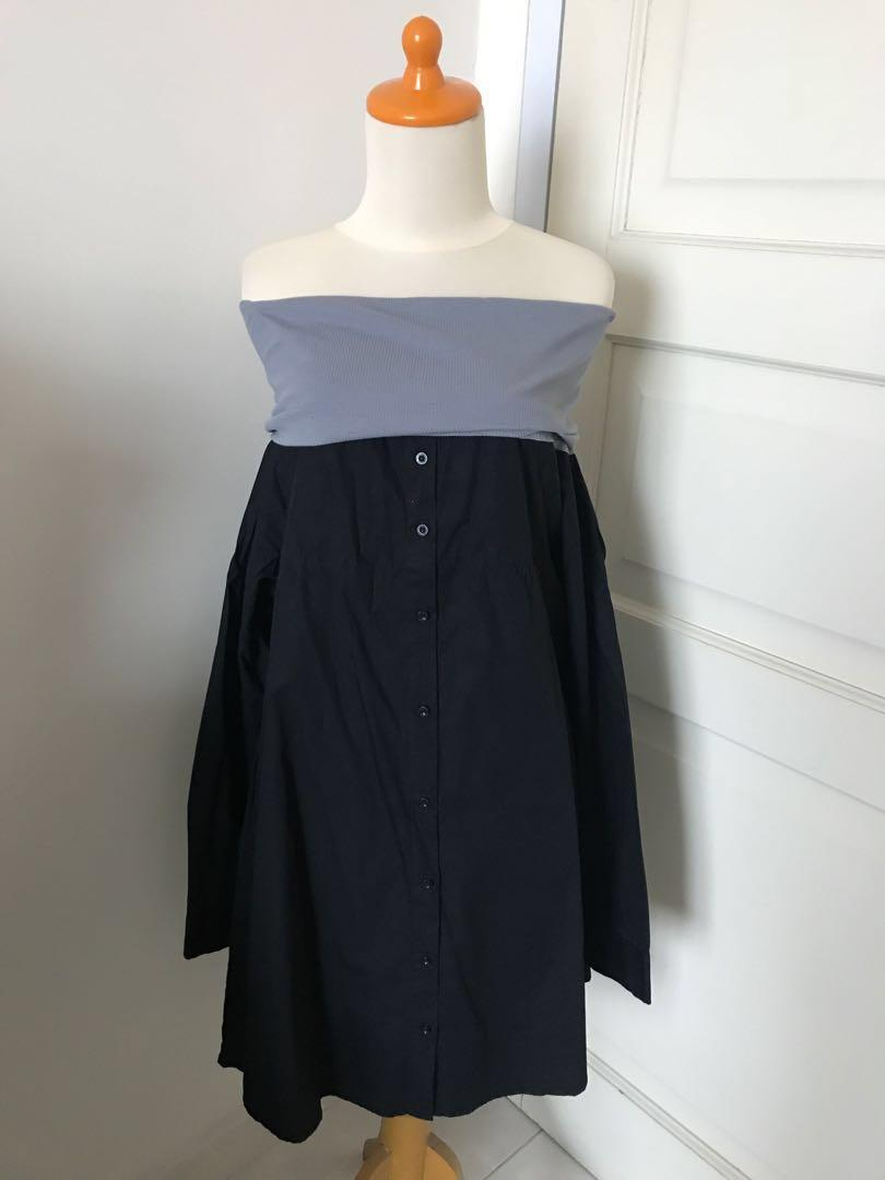 XSML Dual Tone Grey Black Shirt