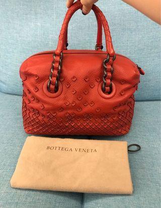 Bottega Veneta BV 紅色 編織包 手提包