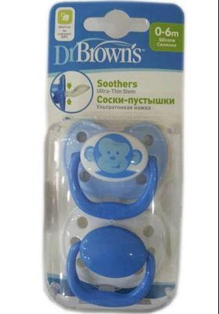 Dr Brown's Pacified 0-6 months (2-packs)