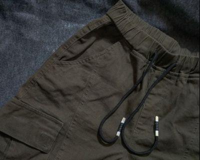 🚚 縮口工作褲(軍綠)