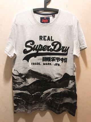 🚚 SUPERDRY 雪山短T (全新僅試穿)