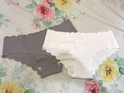 Brand New Scallop Seamless Underwear bundle